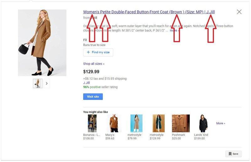 Sådan optimerer du bedst muligt dit Google Shopping Feed - Brug søgeord i titler og beskrivelser