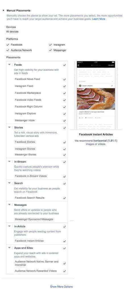 manuelle facebook annonce placeringer