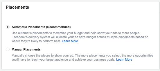 facebook annonce placeringer