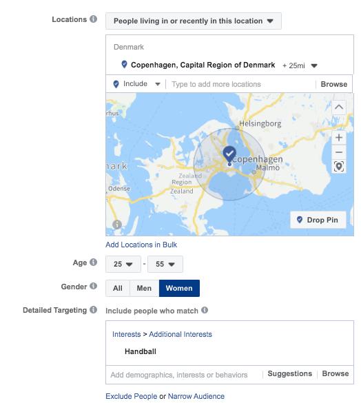 facebook speficik målretning